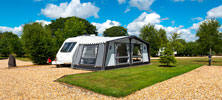 A service pitch at Bath Chew Valley Caravan Park