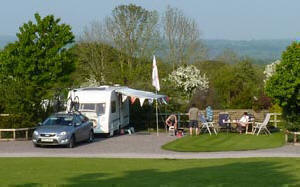 A pitch at The Old Oaks Touring Park Somerset